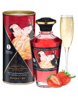 Aceite Afrodisiaco Efecto Calor Sabor Frutillas con Champaña