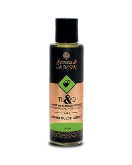 Aceite de masaje Tu & Yo Dulce Cítrico