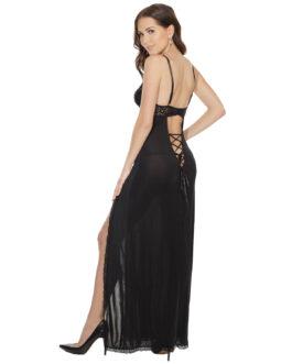 Vestido Negro Coquette 7049