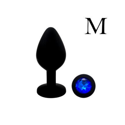 Plug Anal Silicona Joya Azul M Oveja Negra Boutique Tu SexShop de Concepción